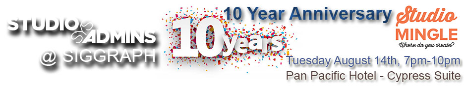 StudioSysAdmins 10 Year Anniversary StudioMingle
