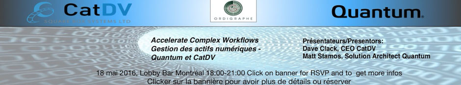 Accelerate Complex Workflows Quantum - CatDV
