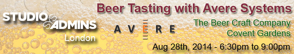 SSA London: Beer Tasting w/Avere Systems