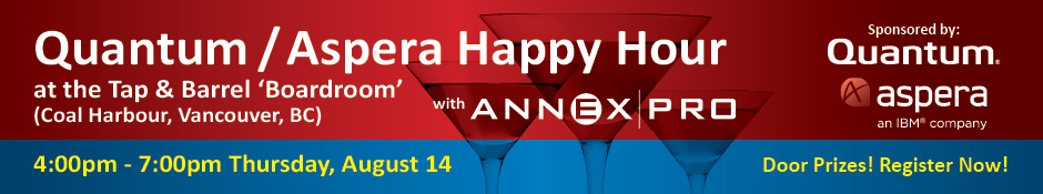 Quantum/Aspera Happy Hour @ SIGGRAPH 2014